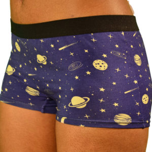 womens cosmic boyshorts