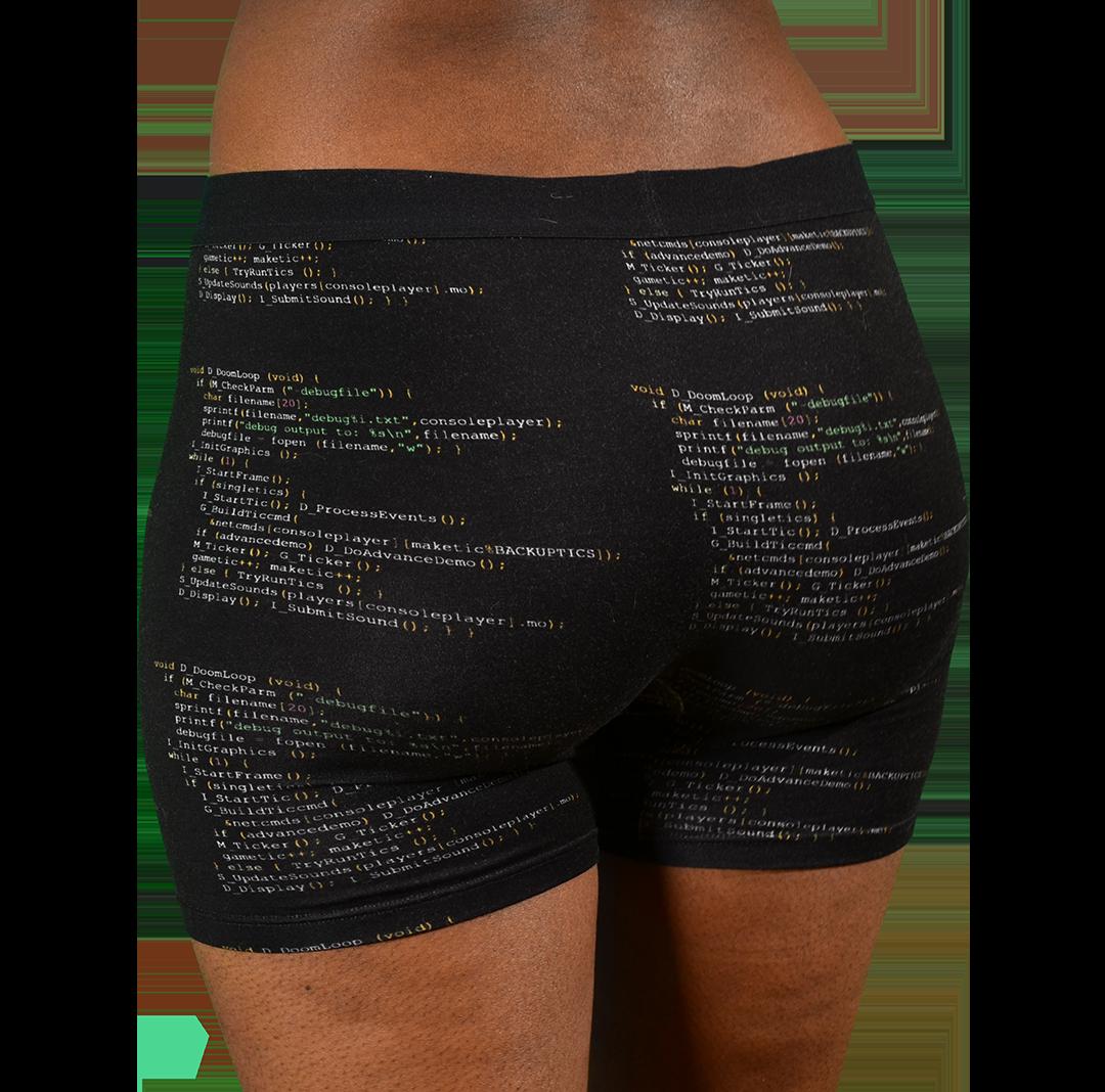 Women's Boxer Briefs with Doom Code