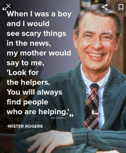 help the helpers, mister rogers
