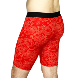 Men's Long Boxer Briefs - Fist of the Dragon